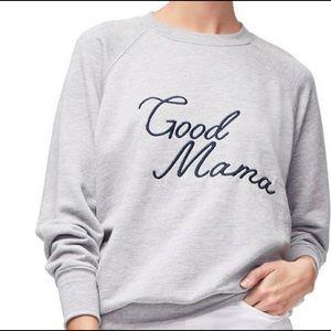 Good American 'Good Mama' Pullover Sweatshirt